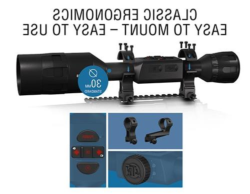 ATN 4 2.5-25x, 640x480, Scope w/Ultra Sensitive Next Sensor, Range Finder, and IOS and Apps