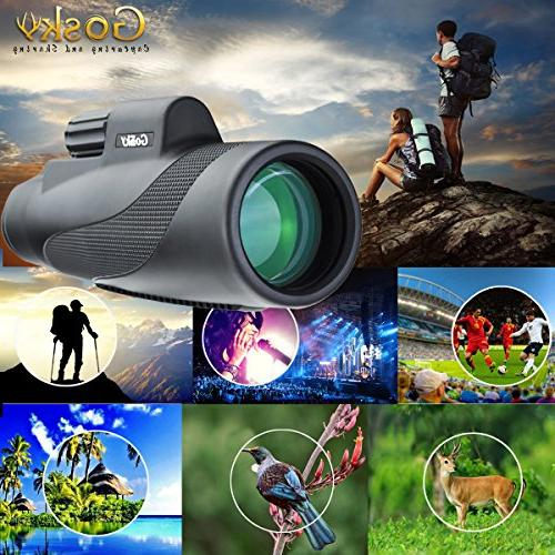 Power Prism Waterproof Scope -BAK4 FMC for Bird Hunting Camping Travelling