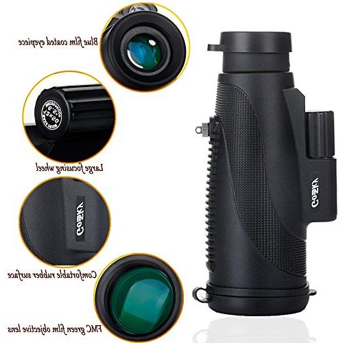 Power Prism Quick Smartphone Waterproof Fog- Shockproof Scope for Bird Camping Travelling Secenery