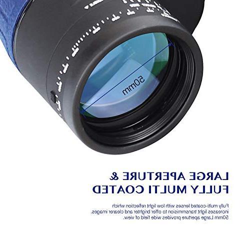 Aomekie for Military Binoculars Waterproof Compass Rangefinder BAK4 for