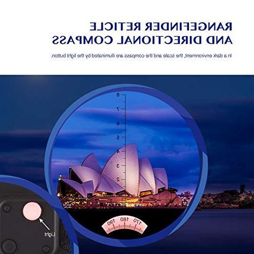 Aomekie 7X50 for Military Binoculars Waterproof with Compass Rangefinder for