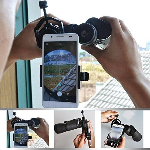 Universal Cellphone Mount, Work Monocular Spotting Microscope for Samsung LG Xiaomi
