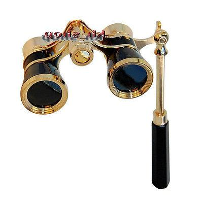 3x25 Opera Theater Telescope Lady Glasses Brass Coated Lens