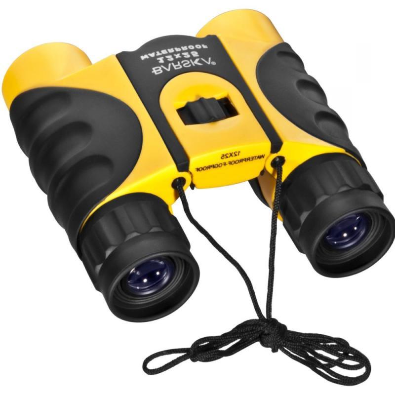 12 X 25 Colorado Travel Binoculars Yellow New