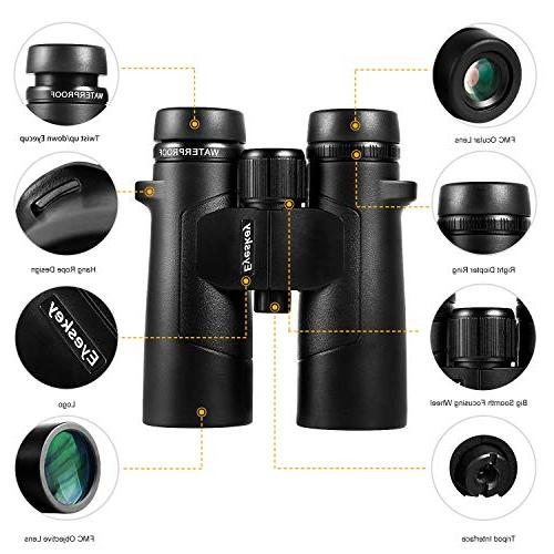 Eyeskey Binoculars for Traveler- Wide More Clear Camping, Surveillance