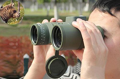 Hooway 7x50 Marine Binocular Sports,Hunting,Bird Watching More(Army Green