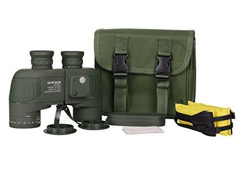 Hooway 7x50 Marine Binocular w/Internal & for Navigation,Boating,Water Sports,Hunting,Bird and Green