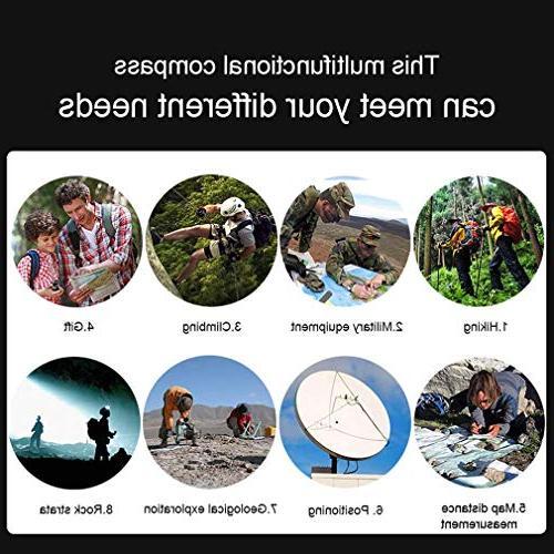 Eyeskey Military Aluminum Alloy Inclinometer for Hiking, Hunting, Motoring,