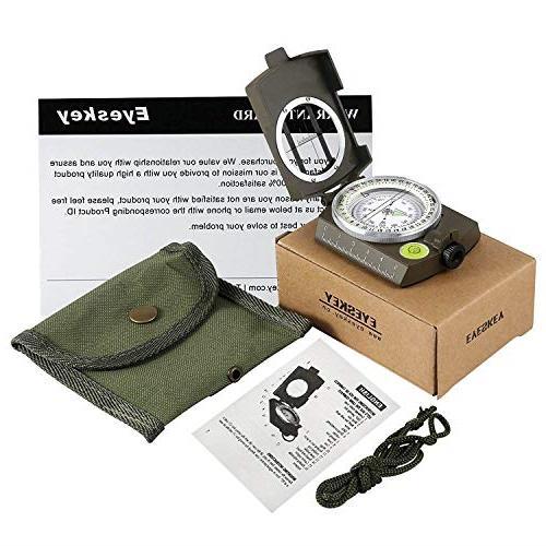 Eyeskey Multifunctional Lensatic Compass Hiking,