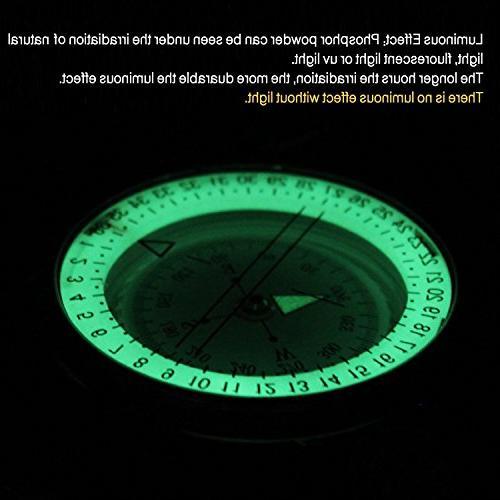 Eyeskey Waterproof Multifunctional Military Lensatic Compass Great Hiking,