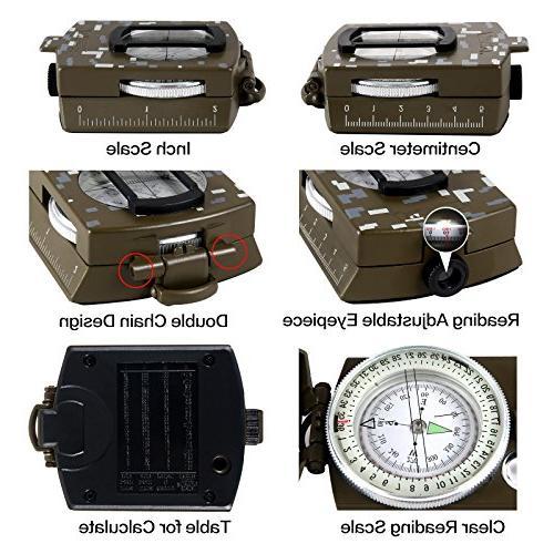Eyeskey Waterproof Lensatic Compass