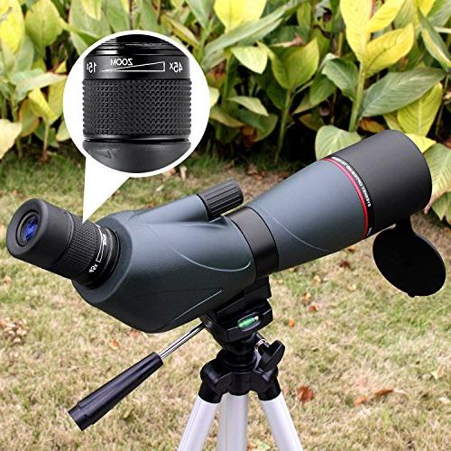 Zoom Spotting - Professional for Hunting-Porro Prism Scopes with Carry and Tripod, Green