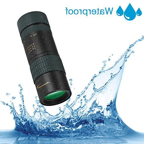 Aurosports Zoom Monocular Waterproof Focus Lens Hiking, Concert