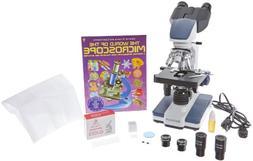 AmScope 40X 2500X LED Lab Binocular Compound Microscope with