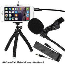 Lavalier Lapel Microphone Clip On Omnidirectional Condenser
