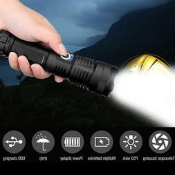 LED Flashlight High Power Glare Hand-held P50 Zoom USB Charg