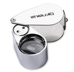 Okularis® 40x Loupe Magnifier, Aluminum-encased with LED an