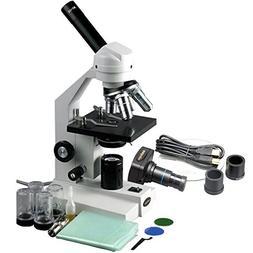 AmScope M500A-P Digital Monocular Compound Microscope, WF10x