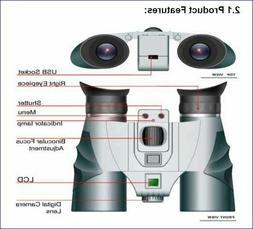 Vivitar MagnaCam 1025x1 Binoculars with Digital Camera 10 x