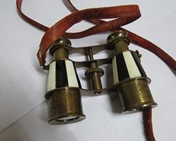 Marine Brass Binocular with Antique Finish Spy Glass with Be