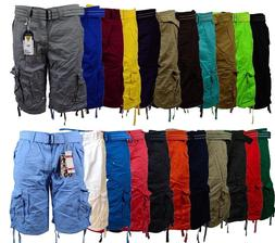 Men's Cargo Shorts with Belt Focus 32 34 36 38 40 42 44 Casu
