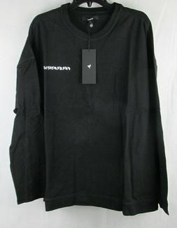 Konus Brand Mens Black Presentations Long Sleeve T-shirt Siz