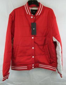 Konus Brand Mens Red Snap Button Padded Bomber Jacker Size X