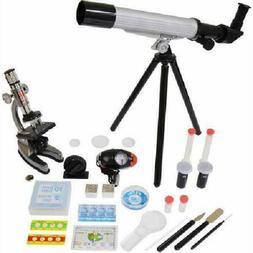 Elenco Microscope and Telescope Set with Survival Kit Portab