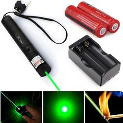 Military 532nm 5mw Green Laser Pointer Lazer Pen Beam 18650