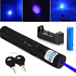 Military Blue Purple Laser Pointer 405nm Lazer Pen Beam+ 186