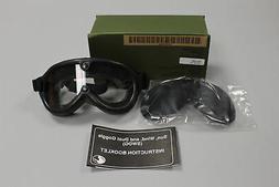 Military Issued Sun, Wind, & Dust Ballistic Goggles W/ 2 Len