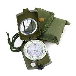 Sportneer Military Lensatic Sighting Compass with Carrying B
