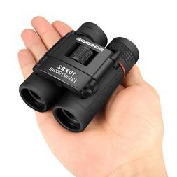 Mini Compact Binoculars, 10x22 Small Folding Binoculars with