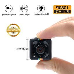 1080P Mini Spy Cam Hidden Camera LXMIMI Portable HD Nanny We