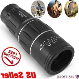 Monocular 16x52 Optics Zoom Lens Camping Hiking Telescope Sc