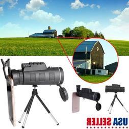 Monocular 40X60 Zoom Optical HD Lens Telescope + Tripod+ Cli