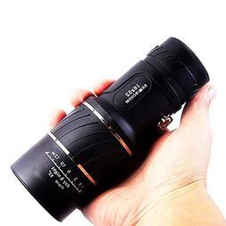 Monocular Telescope, 10X40 Dual Focus, Prism Film Optics,Wat