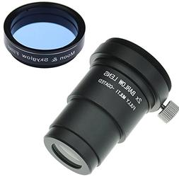 "Gosky 1.25"" Moon Filter & 2X Barlow Kit for Telescope Eyepie"