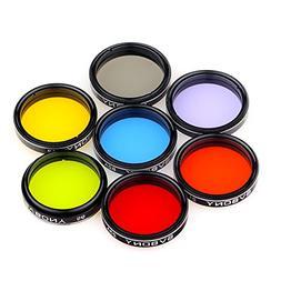 "SVBONY 1.25"" Moon Filter CPL Filter Five Color Filters Kit 7"