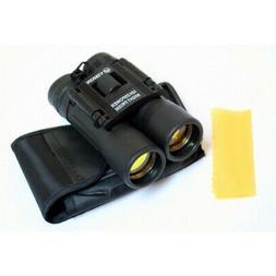 Perrini New 10x25 Zoom Binoculars Ruby Lens Sharp View, Quic