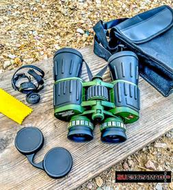 60x50 Day / Night Prism Black and Green Military Binoculars