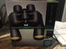NEW! EMERSON 7x50 MAGNIFICATION BINOCULARS +CARRYING CASE an