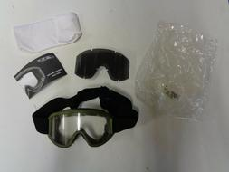 NEW ESS Land Ops Military Goggles OD Olive Drab Green W/ Cle