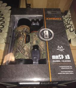 New! Bushnell Trophy Binoculars, 8x42mm, Realtree Camo X wit