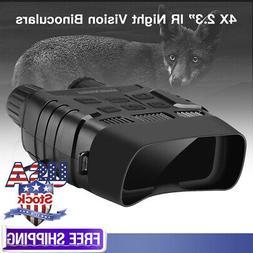 Night Vision Binoculars 300 Yards Digital IR Telescope 4X Zo