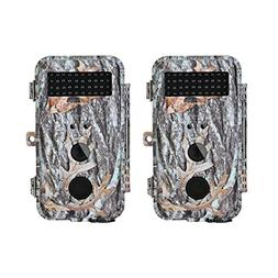 BlazeVideo 2-Pack 16MP HD 1080P Game & Trail Cameras Hunting