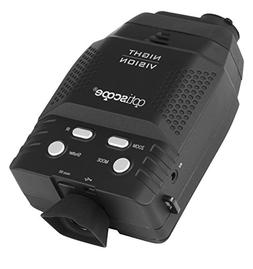 Premium Night Vision Monocular By OPTISCOPE - 328ft/100m Inf