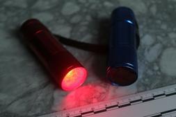 Night Vision Red Astronomy Flashlight- 1 LED/ 3 AAA- NICE!!