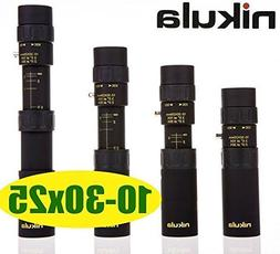 New Nikula Mini 10-30x25 High Power Zoom Optical Monocular T