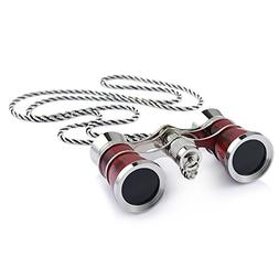 Uarter Opera Glasses Theater Vintage Binoculars with Chain N